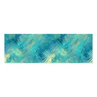 Aquamarine Blue Crystal Gel Texture Pack Of Skinny Business Cards