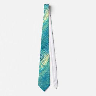 Aquamarine Blue Crystal Gel Texture Tie