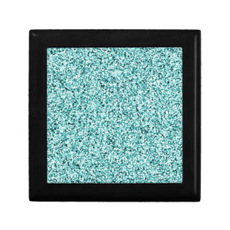 Aquamarine Blue Faux Glitter Gift Box