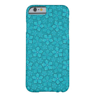 Aquamarine Blue flower petals Barely There iPhone 6 Case