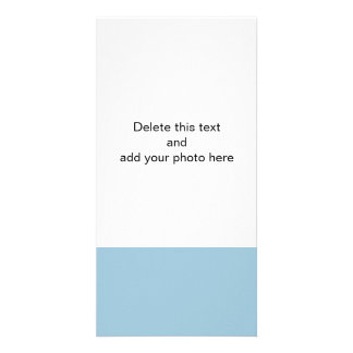 Aquamarine Blue High End Solid Color Personalised Photo Card