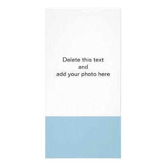 Aquamarine Blue High End Solid Color Photo Card