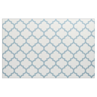 Aquamarine Blue Moroccan Trellis Pattern Fabric