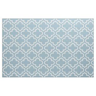 Aquamarine Blue Moroccan Trellis Pattern Fabric 02