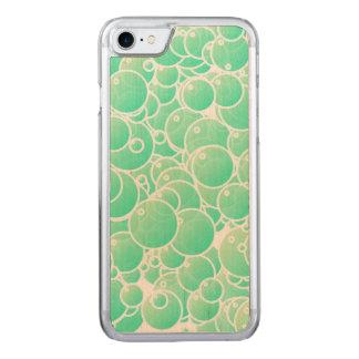 Aquamarine bubbles carved iPhone 8/7 case