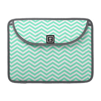 Aquamarine Chevron; zig zag Sleeve For MacBook Pro