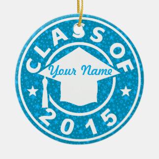 Aquamarine Class Of 2015 Graduation Christmas Ornaments
