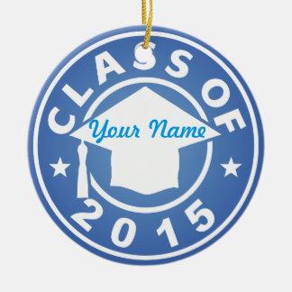 Aquamarine Class Of 2015 Graduation Ornament