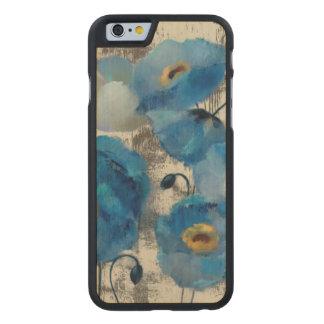 Aquamarine Floral Carved Maple iPhone 6 Case