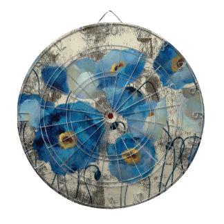 Aquamarine Floral Dartboard