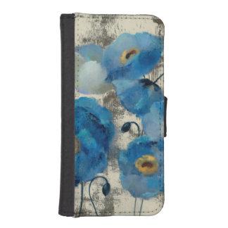 Aquamarine Floral iPhone SE/5/5s Wallet Case