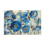 Aquamarine Floral Stretched Canvas Print