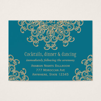Aquamarine Gold Indian Reception Enclosure Card