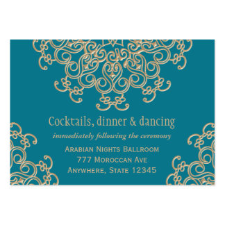 Aquamarine Gold Indian Reception Enclosure Card Pack Of Chubby Business Cards