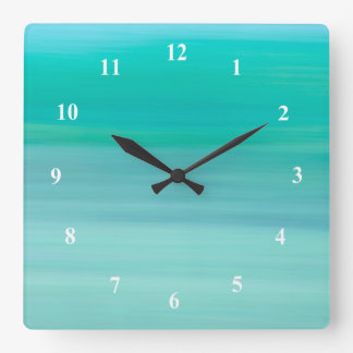 Aquamarine green and blue calm ocean wallclock