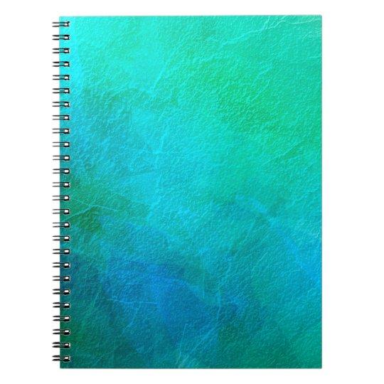 Aquamarine Green Blue Ice Abstract Art Spiral Notebook