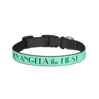 Aquamarine Green Dog Collar Personalized