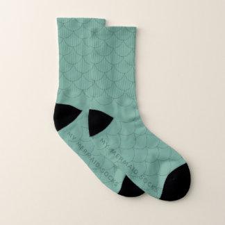 Aquamarine Green Scale Pattern  My Mermaid Socks