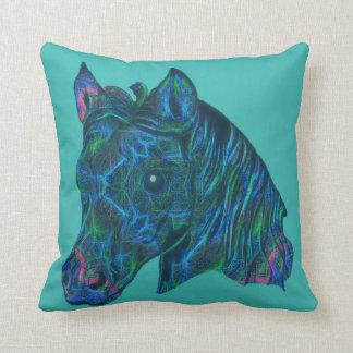 Aquamarine Horse-Head Pillow