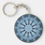 Aquamarine Kaleidoscope Keychains