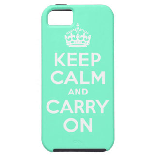 Aquamarine Keep Calm and Carry On Case-Mate Case