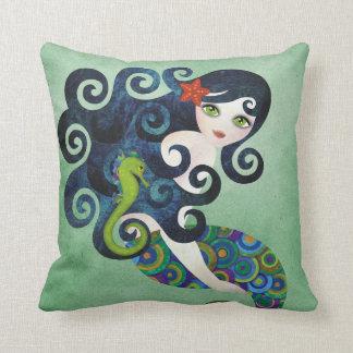 Aquamarine Mermaid American MoJo Pillow