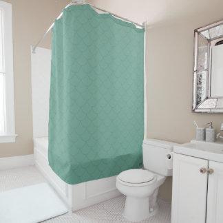 Aquamarine Mermaid Tail Scales Shower Curtain
