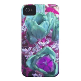 Aquamarine N Purple Tulips Blackberry Bold case iPhone 4 Case-Mate Cases