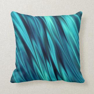 Aquamarine silky waves cushion