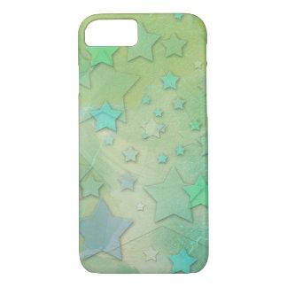 Aquamarine Stars Celestial Modern Art iPhone 7 Case