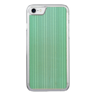 Aquamarine Teal and Green Vertical Stripes Pattern Carved iPhone 7 Case