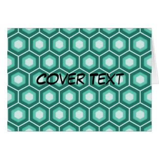 Aquamarine Tiled Hex Card
