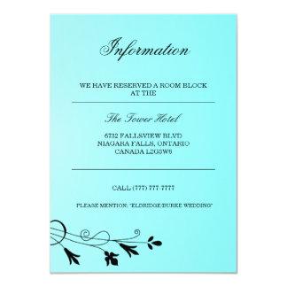 Aquamarine Turquoise Guest Information Card 11 Cm X 16 Cm Invitation Card