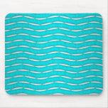 Aquamarine Turquoise Modern Pattern Mouse Pad