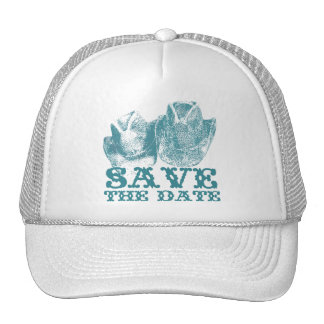 Aquamarine Western Vintage Weddings Trucker Hat