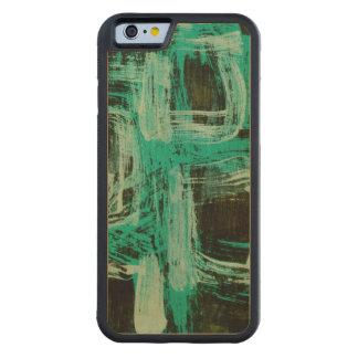 Aquamarine Windows I Carved Maple iPhone 6 Bumper Case