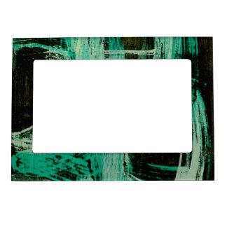 Aquamarine Windows I Picture Frame Magnet