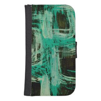 Aquamarine Windows I Samsung S4 Wallet Case