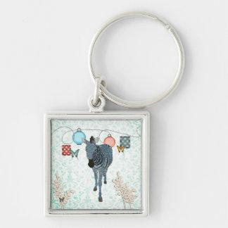 Aquamarine Zeb & Butterflies Keychain