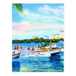 Aquaplaning on Biscayne Bay, Miami, Florida Postcard
