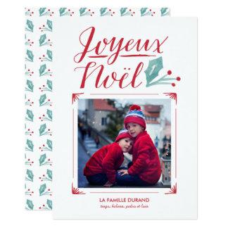 Aquarelle & Calligraphie | Joyeux Noël 13 Cm X 18 Cm Invitation Card