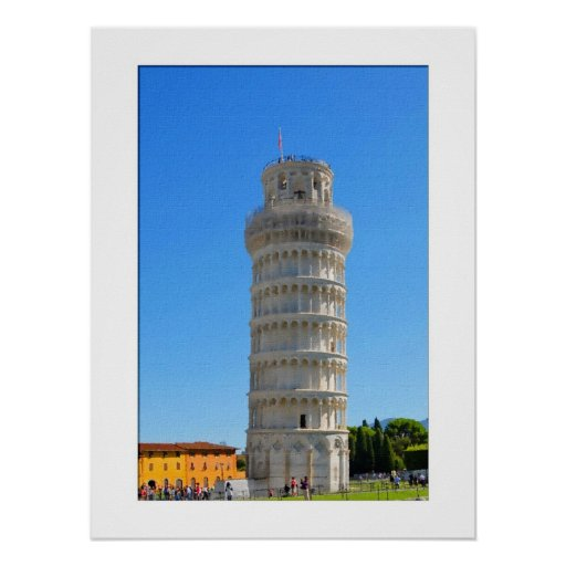 Aquarelle Pisa Leaning Tower Posters