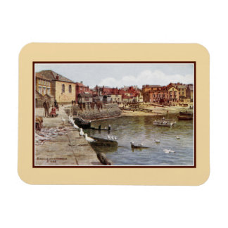 Aquarelle St Ives Cornwall Seagulls in the harbour Rectangular Photo Magnet