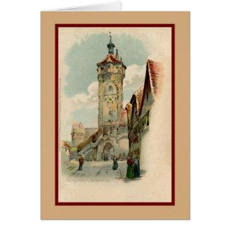Aquarelle watercolor Rothenburg ob der Tauber Greeting Card