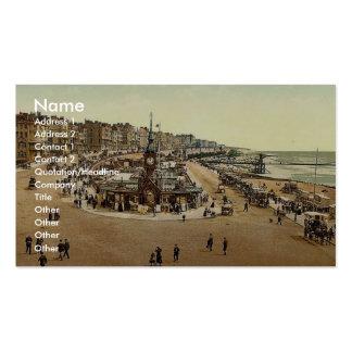 Aquarium, Brighton, England vintage Photochrom Business Card Template