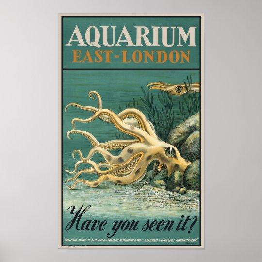 Aquarium, East London- Octopus Poster