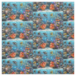 aquarium fish design fabric