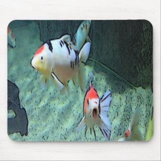 aquarium fishes paint mouse pad