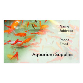 Aquarium or Water Garden with Goldfish Pack Of Standard Business Cards