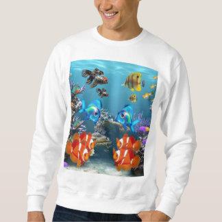 Aquarium Sealife Style Sweatshirt